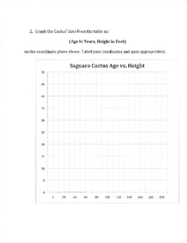 Deathwatch Ben & the Saguaro Cactus (Data Analysis) 8.SP.A, 8.G.C.9 ELA