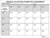 Physical Education Student Self-Assessment