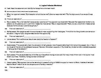 Debate- Basic Argumentation and Fallacies Unit Packet
