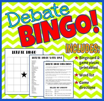 Debate Bingo Game