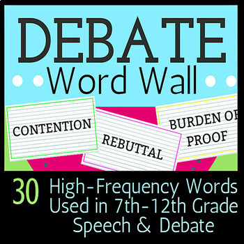 Debate Bundle for Grades 4-8+ (Vocabulary, Outlines, Topics, and More!)