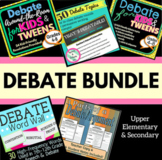 Debate Bundle for Grades 4-8+ (Vocabulary, Outlines, Topic