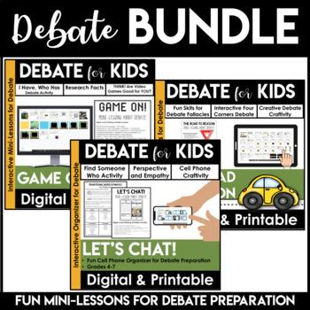 Debate Graphic Organizers | Debate Topics | Argumentative Writing | BUNDLE
