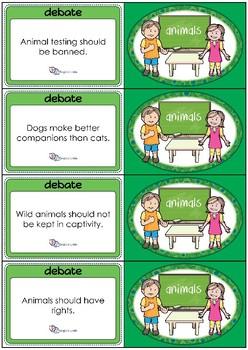 Debate Cards - Animals