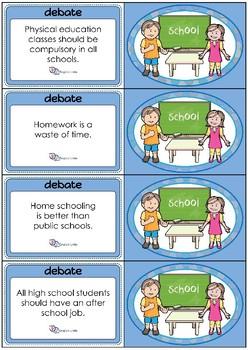 Debate Cards - School