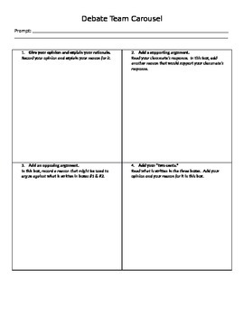 Debate Carousel Worksheet