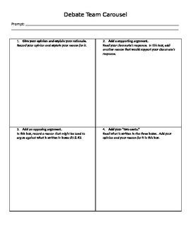 Debate Carousel Worksheet