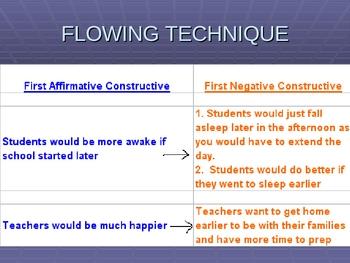 Debate: Flowing