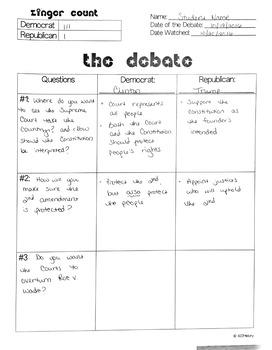 Debate Follow-Along