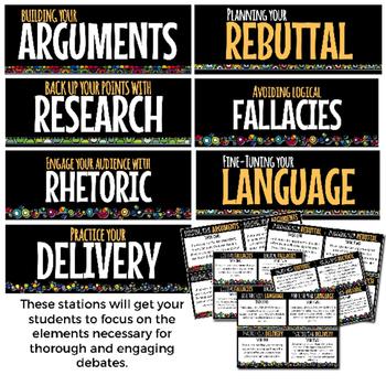 Debate Learning Stations