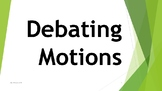 Debate Motion Cards - 80 cards suitable for debaters of all ages