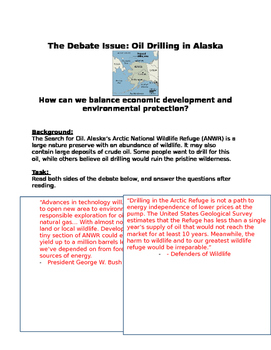 Debate: Oil Drilling in Alaska: Balance of econ dev. & environment protection?