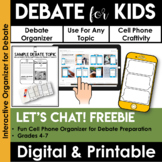 Debate Organizer: Cell Phone Craftivity