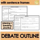 Debate Outline with sentence frames