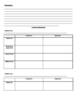 Debate Packet - Easy Organizers to Add a Debate to Any Class