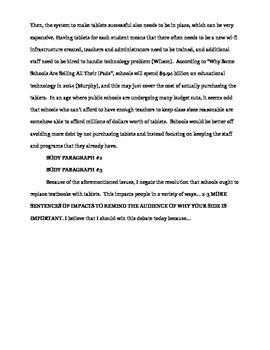 Debate Paper Outline & Example
