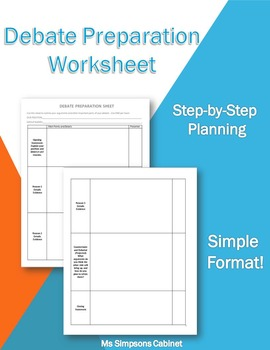 Debate Planning Worksheet