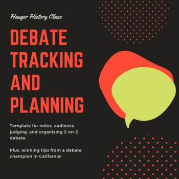 Debate Planning and Tracking Sheet with Winning Tips for Team Debate