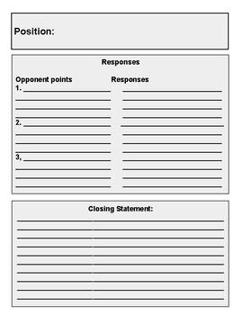 Debate Preparation Worksheet
