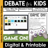 Debate Graphic Organizer | Argumentative Writing | GAME On!