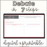Classroom Debate Project   Digital Google Slides & Printable   Debate Unit