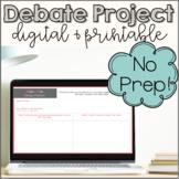 Classroom Debate Project | Digital Google Slides & Printab