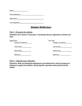 Debate Reflection