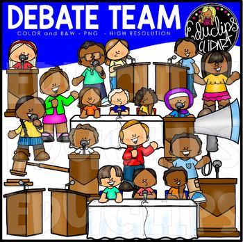 Debate Team Clip Art Set {Educlips Clipart}