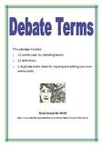 Debate Terms