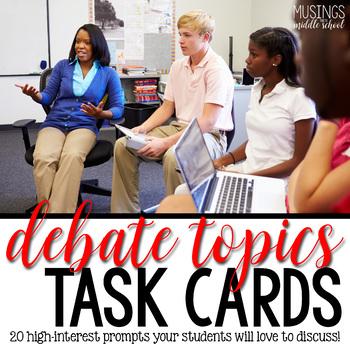 Debate Topics - Task Cards