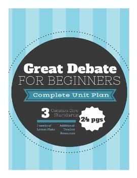 Debate Unit Plan for Beginners
