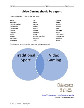 Debate - Video Gaming should be a Sport.