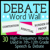 Debate Vocabulary Word Wall