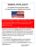 Debate, Vote, Elect! An Incredible Civics and Voting Lesson!