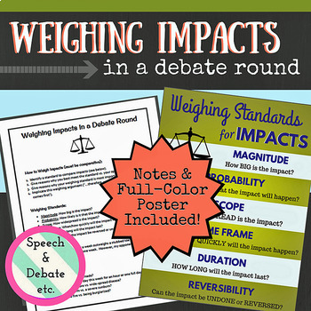 Debate: Weighing Standards for Impacts