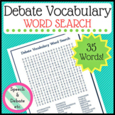 Debate Word Search with Answer Key (secondary)