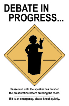 Debate in Progress poster