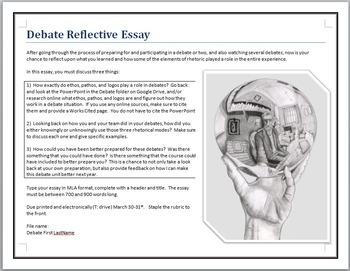 Debate reflective essay