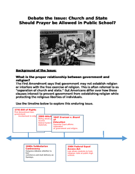 Debate the Issue: Church and State Should Prayer be Allowe
