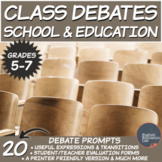 Middle School Debates Package: School and Education