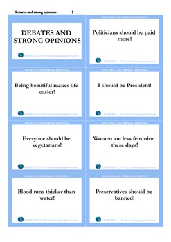 Debates and strong opinions_cards