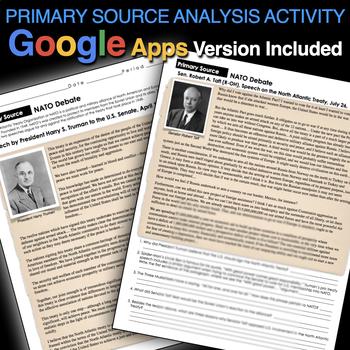 Cold War - Debating NATO Membership Primary Source Activity