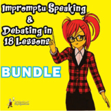 Debating and impromptu speaking in 25 detailed lessons, unit bundle -30% off