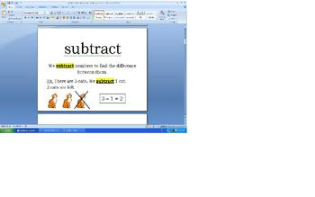 Debbie Diller Chapter 5 Addition and Subtraction Work Stations-Vocabulary