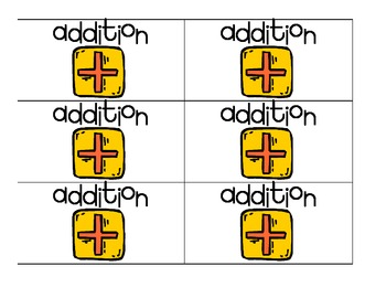 Debbie Diller Math Workstations or Centers Category Labels