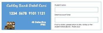 Debit Card- Editable (First Week of School Economy System)