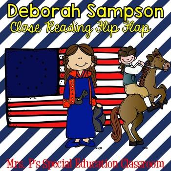Deborah Sampson Close Reading Flip Flap