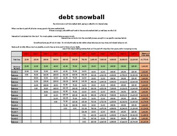 Debt Reduction Spreadsheet