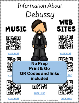Music Composers: DEBUSSY Foldables: Music Listening Activities