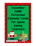 Dec. Holiday Calendar Cards With AABB Pattern:Fit Reg and